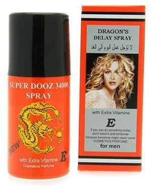 Dragon s 34000 Delay Spray for Men Express Shipping by Super Dooz 34000