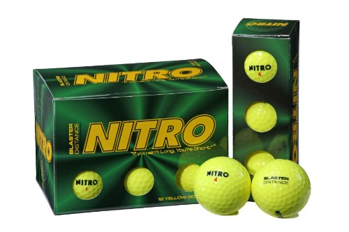 Nitro Blaster Golf Balls (Pack of 12, Yellow)