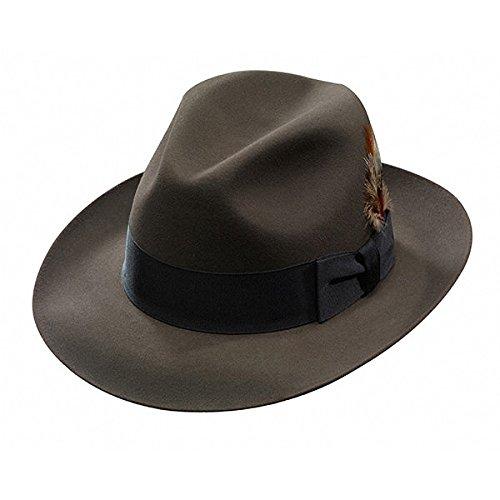 Stetson Temple Fur Felt Fedora Hat-Sage-71_2