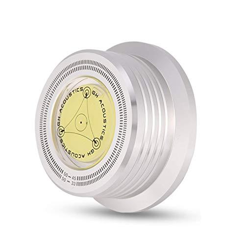 Disc Record Stabilizer 50Hz Platenspeler Niveau HiFi voor Vinyl Platenspeler(Silver)