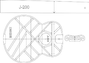 amazon com j200 acoustic guitar layout template guitar building
