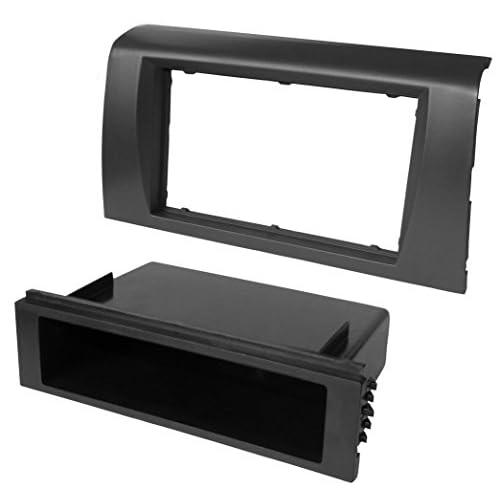 Aerzetix Adaptateur Autoradio Fa/çade Cadre R/éducteur 1DIN ou 2DIN pour auto voiture
