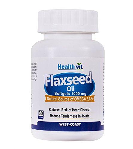 Healthvit Cold-Pressed Flaxseed oil (omega 3-6-9) 1000mg 60 soft gels capsules
