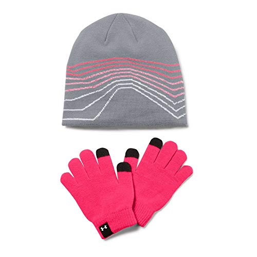 Under Armour Women's Beanie/Glove Combo, Steel, One Size