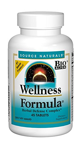 Source Naturals Wellness Formula Bio-Aligned Supplement Herbal Defense Complex Immune System Support & Immunity Booster Wholefood Multivitamin with Organic, Non-GMO Vitamins & Antioxidants – 45 Tabs For Sale