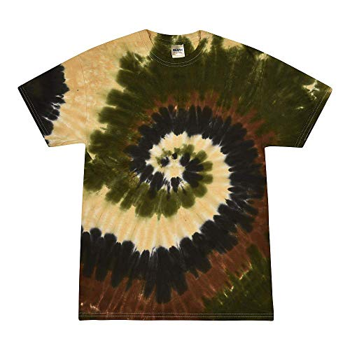 Colortone Tie Dye T-Shirt Kids 10-12 (MD) Camo Swirl -
