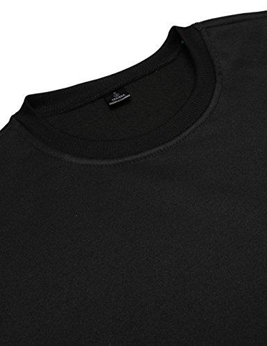 Thick Hoodies For Men, Long Sleeve University Sweatshirt Printing Pullover Streetwear(3 Colors) (Black, M)