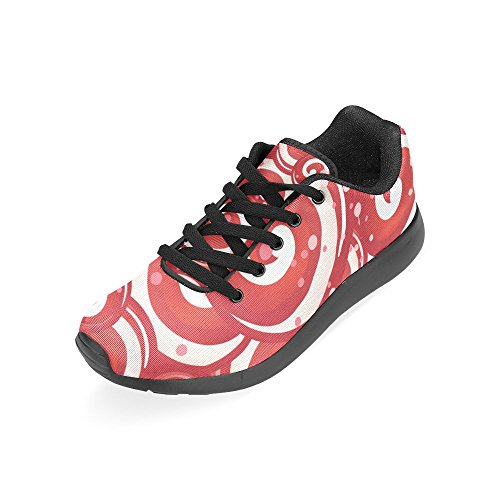 Athletic Red Lollipops Running Women's Print Size Sneakers Candy InterestPrint Shoes 6 US Lightweight On 15 Casual qfgv1w