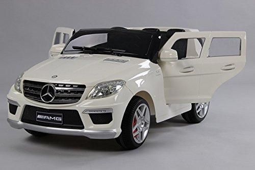 Mercedes Ml63 Amg (Evezo Mercedes-Benz ML63 AMG Ride on Car, White,)