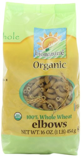 (bionaturae Organic Whole Wheat Elbows, 16-Ounce Bags (Pack of 12))