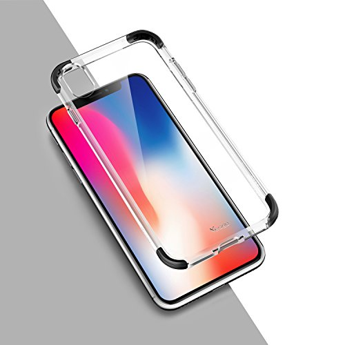 iPhone X Case, iPhone X Edition Case, Yesgo iPhone 10 Case Cover Crystal Shock-Absorption Soft TPU Bumper and Anti-Scratch Ultra Clear Slim Case for Apple iPhone X - Black