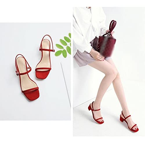 80Off Rojos Sandalia Tacón Gaihu 5cmMedio Zapatos 5 LqzMGjUSVp