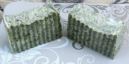 Two Herbal Lard and Lye Soaps Lemon Balm Anise Hyssop Oregano Echinacea Lemongrass with Lemongrass Essential Oil