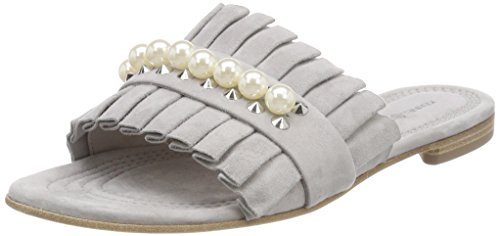 Mujer Schuhmanufaktur Grau Kennel Schmenger Para Elle pearl alu Chanclas Und qBSafB