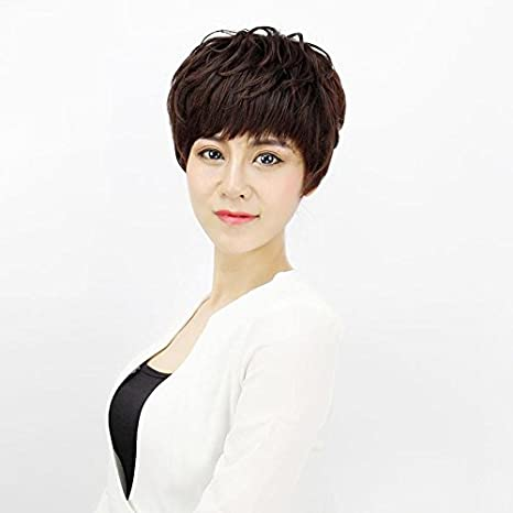 High Grade Hot Women Girls Female Short Hair Bob Wig Natural And Realistic Set Of Short Curly Hair Fluffy Repair Face In Older Models Amazon Ca Beauty