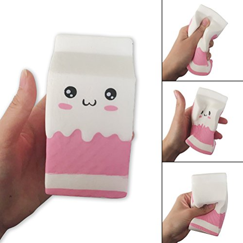 Jewelvwatchro Slow Rising Squishy Milk box Scented Slow Rising Hand Wrist Toy By