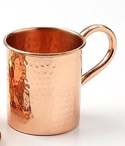 Copper Moscow Mule Mug - 16 Oz Capacity - 100% (Hammered)
