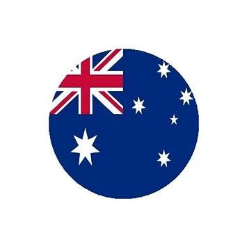 amazon com australia flag round coasters set of 4 coasters