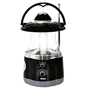 Northpoint Multifunctional Radio Lantern and Emergency Flashlight, Battery Operated, 12 Bright Lantern LED's and 4 Bright Flashlight LED's, Hurricane Lantern