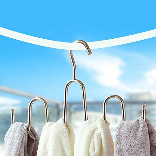 (OLIr Hanger Coat Rack Creative Stainless Steel Wavy Towel Rack Wall Hanging)