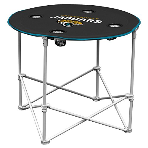 Logo Chair, Inc 1 Pc, Jacksonville Jaguars Round Tailgate Table, 600D Polyester, 30
