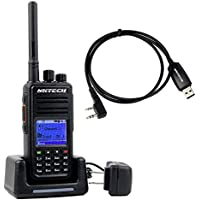 NKTECH MD-380V Digital Mobile Radio VHF 136-174MHz 5W 1000 Channels VOX Message Scrambler DMR TYT FM Two Way Radio With MD-380 Programming Cable