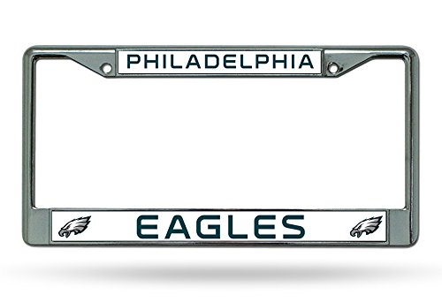 Rico Industries NFL Philadelphia Eagles Chrome Plate Frame,12-Inch by 6-Inch,Silver ()
