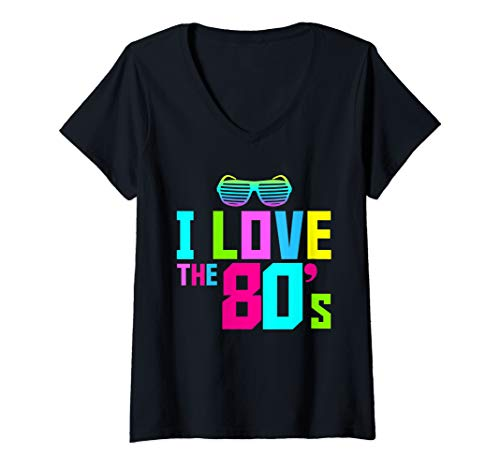 80s Fancy Dress Womens Costumes - Womens I love the 80s Costume