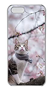 iPhone 4s Case, Personalized Protective Spring Cat Case for iPhone 4s PC Clear Phone Cover