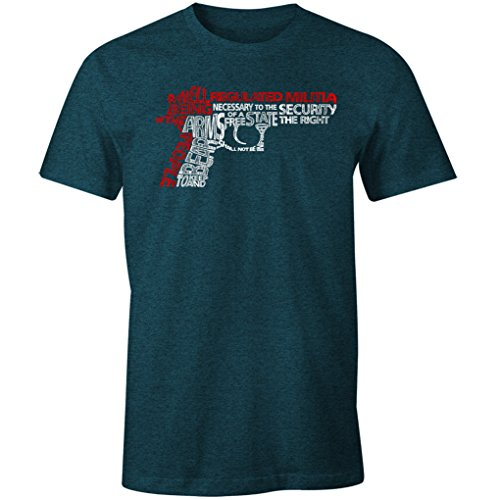 Pro Militia 2nd Amendment Rights to Bear Arms Men's T Shirt (Midnight, 2XL)