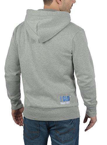 Éclair Sweat À Light Benn Sweat Homme Grey Capuche Veste Zippé En solid Pour Polaire shirt Melange Fermeture 8242 Avec Doublure Zx4nzXSnwq