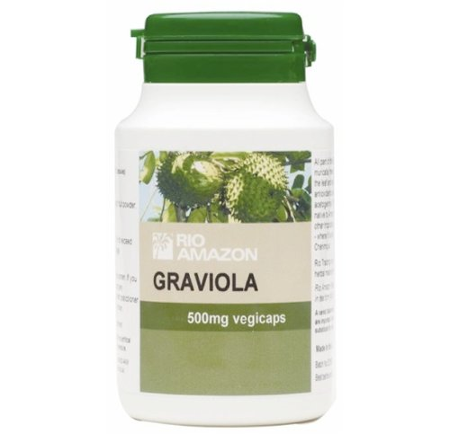 Rio Amazon Graviola 500mg, riche en anti-oxydants, Immune Support - 120 Capsules