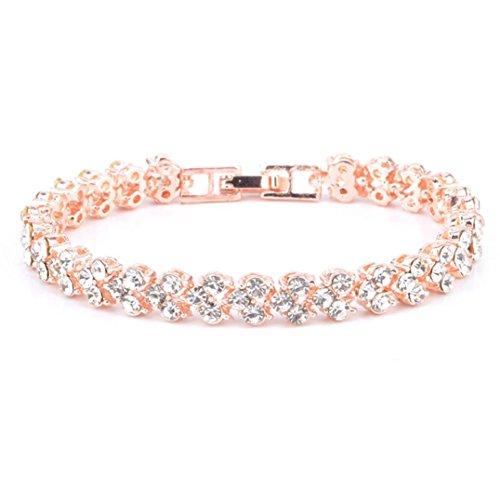 (minjiSF Bracelets for Women Girls Roman Style Woman Crystal Diamond Bangle Gifts Jewelry Adjustable Bracelets for Couples Anniversary)
