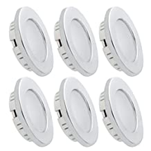 Dream Lighting LED Recessed Ceiling Light 3.5W Silver Pack of 6