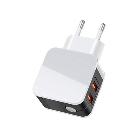 Cargador USB Multipuerto, Adaptador Enchufe Cargador Enchufe ...