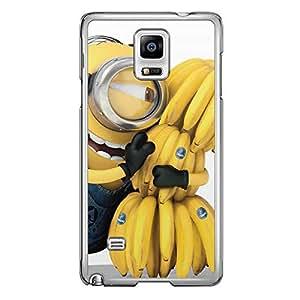 Loud Universe Samsung Galaxy Note 4 Files Minion 16 Printed Transparent Edge Case - Multi Color