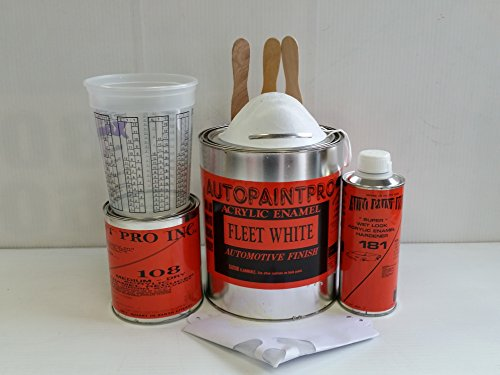 Fleet white acrylic enamel single stage restoration auto car paint kit (Acrylic Restoration)