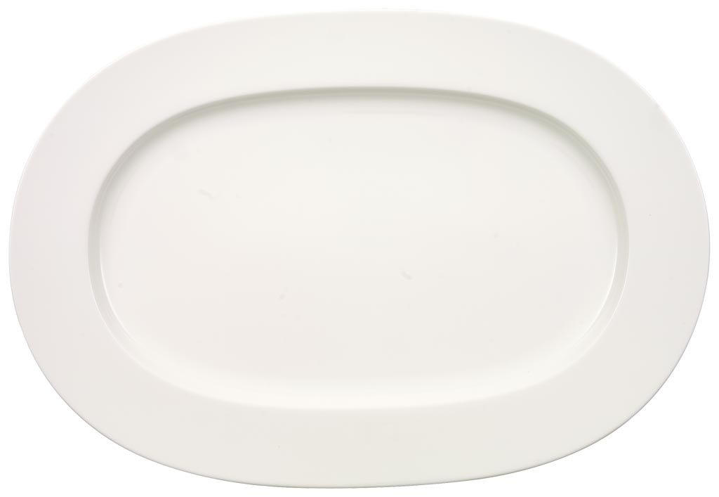 Anmut Oval Serving Platter by Villeroy & Boch - Premium Bone Porcelain - Made in Germany - Dishwasher and Microwave Safe - 16 Inches 1045452940