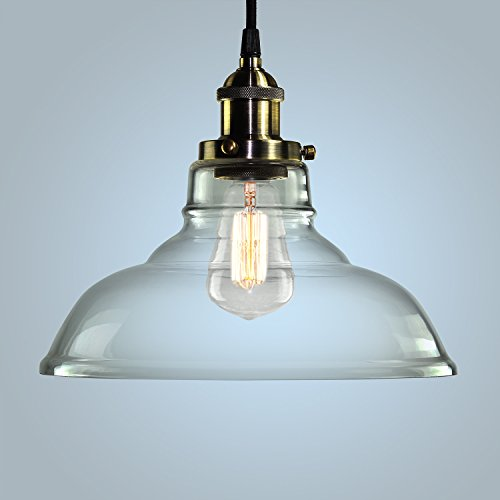 pendant light hanging glass ceiling mounted chandelier fixture shine hai modern industrial edison vintage style