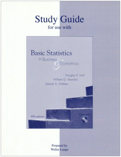 Basic Statistics for Business and Economics: Study Guide