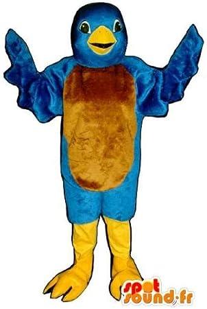 Mascotte SpotSound Amazon de pájaro azul-Disfraz de Twitter ...