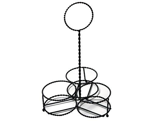 Caddy for 3 Quart Mason Jars in Black Twisted Metal (Chevron Mason Jar Lid)