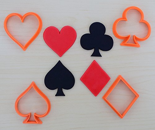 Poker Suits Cookie Cutter Set (3.3 x 4 inches)