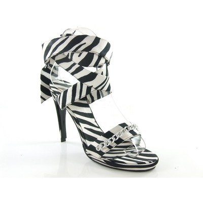Angelina Bridal Shoes - D2 by Dikuza Animal Prints Black/White Zebra Angelina Women's Zebra Platform Ankle Wrap Party Prom Pageant Evening Bridesmaid Shoes Sandal