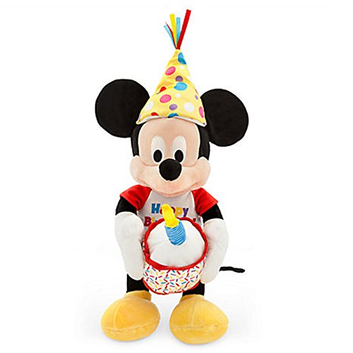 Official Disney Mickey Mouse 28cm Happy Birthday Musical Soft Toy With Lights