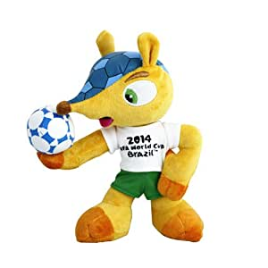 Kayofrd 100% Polyester 20cm/8 Inch Fuleco Plush Toy Hold Ball Pose 2014 World Cup Soccer Mascot Official Licensed Product Armadillo Trophy Best Toy Cool Decoration Fashion Gift Sports Collectible Collections