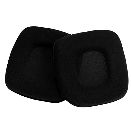 [Alonea Soft Velour Foam Ear Pad Cushion For Razer Banshee Starcraft II Gaming Headset (Black)] (Banshee Costumes)