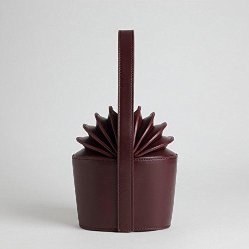 MYLL Di black Ananas High Women's Borsa Di Quality A Forma Brown Fashion Handbag Personality Leather Forma A rrwTqSH