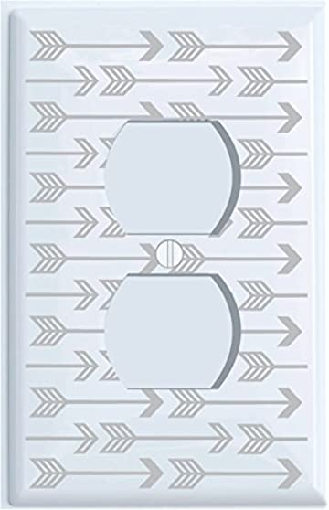 Amazoncom Grey Arrow Print Light Switch Plate And Outlet Covers