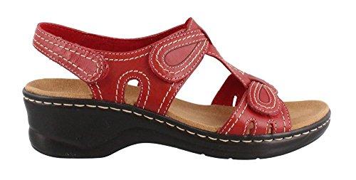 Clarks Women's Lexi Walnut Q, Red, 10 a-Narrow